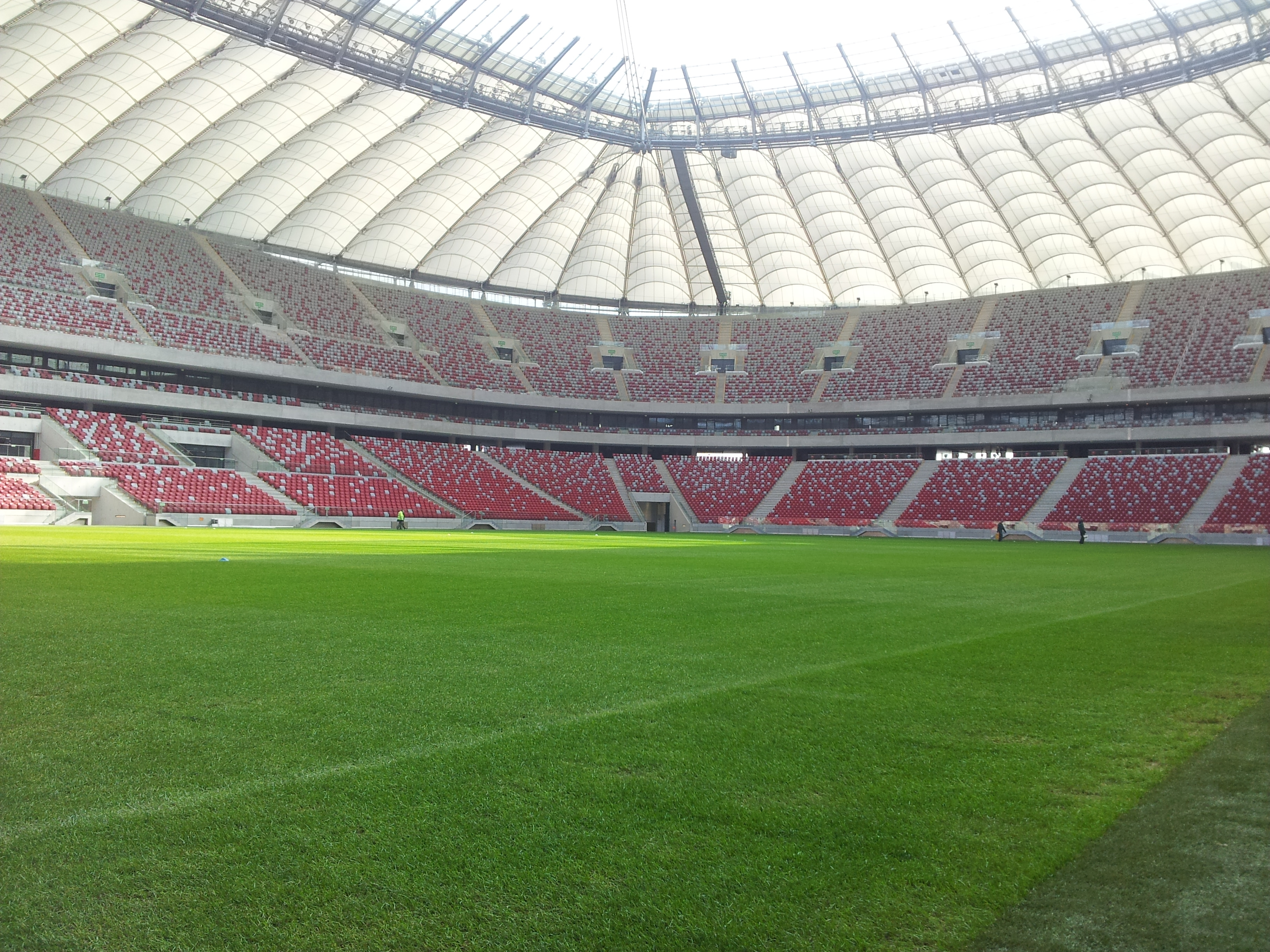 Ostatnie prace na stadionie narodowym